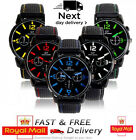 Mens Watches Sports Wrist Boys Touring Racing Silicon Strap Quartz Cheap Watch