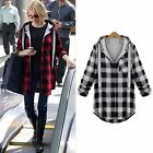 Casual Women's Checks Tops T Shirt Coat Hoodie Sweater Jacket Outwear Outfits