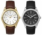 Timex Men's Easton Avenue | Leather Strap 24-Hour Time Date | Dress Watch