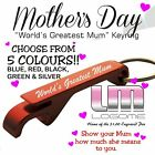 Engraved Mothers Day Metal Keyring Gift Present Mum Fundraiser School Gifts