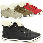 GIRLS KIDS CASUAL TRAINER BOOTS HIGH TOP ANKLE SHOE GRIP SOLE TRAINER SIZES 10-2