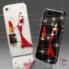 DRESS LIPSTICK DIAMOND MOBILE CASE COVER SAMSUNG iPHONE SONY HTC 4S 5 5S S6 S5 7