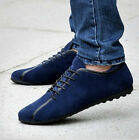 Fashion England Men's Comfort Leather Lace Up Shoes Driving Moccasins Shoes New
