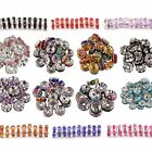 Wholesale 100pcs 6/8MM Crystal Rhinestone Rondelle Silver Wave Spacer Beads HN