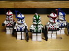 Lego Star Wars Custom Clone Commanders Rex, Cody, Ponds, Wolffe, Denal, Fox, Fil