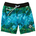 BNWT ~ BOYS PIPING HOT BOARD SHORTS ELASTIC WAIST BLUE GREEN SIZE 1 or 2 NEW