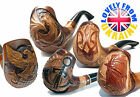 * 50 + MODELS FOR CHOICE * Difficult Hand Carved Tobacco Smoking Pipe for 9 mm