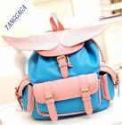 Fashion Sweet Womens Casual Embroidery Wings Bookbag Weekender Travel Backpack