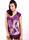 "Damour Damen Top T-Shirt ""PURPLE"" NEU UVP 90€"