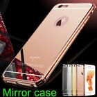 Luxury Aluminum Ultra-thin Mirror Metal Case Cover for iPhone 5/ 5s/ 6 6s 6 Plus