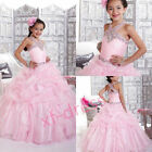 Flower Girl Dress for Wedding Prom School Party Princesses  Ball Gown Pageant12