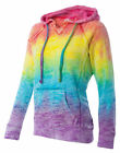 Weatherproof Ladies Tie Dye Hooded Pullover Fleece Sweatshirt Hoodie. W1162