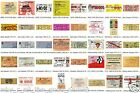 MUSIC ARTIST Reproduction CONCERT TICKETS - Individual Sale - Use as Bookmark