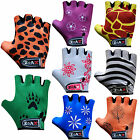 Junior Cycling Gloves Beautiful Printed Cycle Gloves Leather Kids / Children