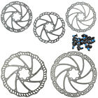 Tektro MTB Bike Bicycle Disc Brake Rotor 6 Bolts 140mm 160mm 180mm Include Bolts