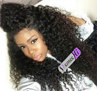 SOFT NEW Natural kinky curly Brazlian Remy human hair full/front lace wigs
