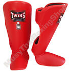 Twins Special Muay Thai Boxing Shin Guards SGL-2 Red Size S-M-L.