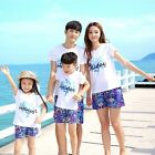 New Summer family matching clothes outfits Holiday Girl Boy sets t shirt  Pants