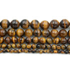Natural Yellow Tiger Eye Gemstone Round Beads 15.5'' 4mm 6mm 8mm 10mm 12mm 14mm