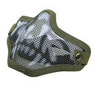 Comfy Paintball Steel Mesh Skull Face Mask Tactical Airsoft CS Half Face Shield