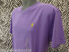 Genuine POLO RALPH LAUREN T-Shirt SS V-Neck CLASSIC Purple Cotton Top BNWT RP£52