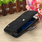Slide Pocket PU Leather Wallet Case Cover for Samsung Galaxy S7 / S7 Edge