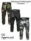 Black Grey Green Camo CE Armoured Motorbike Waterproof Motorcycle Trousers Pants