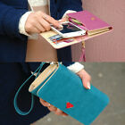 Candy Color PU Leather Women's Wallets Multifunctional Coin Purse Phone Bag