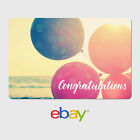eBay Digital Gift Card - Congratulation Designs - Email Delivery