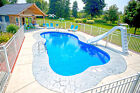 In-Ground Fiberglass Pool - Leading Edge - Traverse Bay Display model $28040.0 USD on eBay