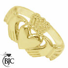 BJC® 9ct Yellow gold Claddagh Irish Mens Ring Multiple Sizes engagement R175