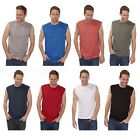 2 Mens Sleeveless T-shirt Vest Top Summer Gym Training Pure Cotton Sizes S-XXL