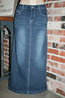 NEW!!~PAXTON JEANS~LONG Straight DENIM SKIRT~2 4 6 8 10 12 14 16 18 20 22 24