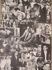 Clark Gable collage poster black and white