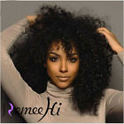 """Brazilian Soft  Kinky Curl 100% Remy Human Hair 12""""-24"""" Ful/Front Lace Wig"""