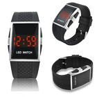 New Fashion Men's LED Date Digital Mens Water Resistant Sport Black Wrist Watch