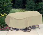 """Waterproof Outdoor Table&Chair Patio Furniture Oval/Rectangle 120"""" x 80"""""""