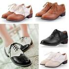 Vintage Womens Lace up Pumps Oxford Flat Brogue Lolita Mary Jane Shoes All US Sz