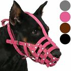 German Shepherd Dog Muzzle Grey Secure Leather Basket Medium Large Breeds