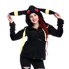Cupcake Cult Moon Hood Ladies Black Yellow Casual Umbreaon Cosplay Goth Emo Punk