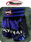 GENUINE TWINS SPECIAL BOXING SHORTS BLUE MUAY THAI MMA TRUNKS FIGHTING M,L,XL
