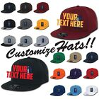 Custom Embroidery Personalized Customized Flat Bill Fitted Hats Baseball Cap RP