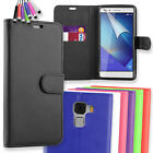 Black Flip PU Leather Wallet Case Cover for Huawei Honor 7 + Touch Stylus Pen