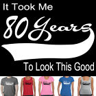 80th birthday Funny T-Shirts gift present tee Men's Ladies Size Singlet 1937 top