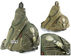 GFM Canvas Monostrap BackpacK Cycling Gym Sports Biking Casual etc