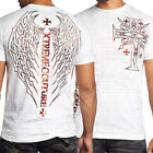 Xtreme Couture Republic Celtic Cross Wings Cross UFC MMA Mens T-Shirt White MED
