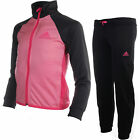 adidas Essentials Polyester Girls Tracksuit Set Pink/Grey
