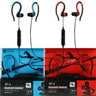 Sports Wireless Bluetooth 4.1 Earphone Headset with Mic for Mobile Phones - Blue