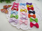 "20pcs 1.5"" Hair Bows Boutique Girls Baby Grosgrain Ribbon Alligator Clip Mixed"