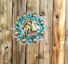 1 blue concho Bling Barrel Racer Racing round berry saddle Concho